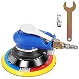 COSTWAY Druckluft Exzenterschleifer Schleifmaschine Multischleifer Poliermaschine mit Anschlussventil, Schraubenschlüssel / 15 cm Scheibe / 10.000 U/min. / 6,3 bar / 350l/h