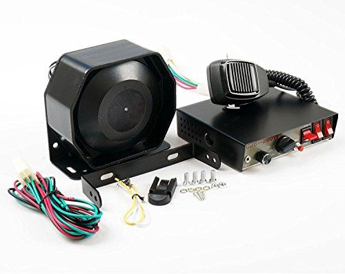 Sirène universelle 8sons 200W avec haut-parleur et micro 12V C Système d'avertissement d'urgence police ou pompiers