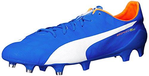 Puma Evospeed Sl Firm Ground Scarpe da calcio Electric Blue Lemonade/White/Orange Clownfish