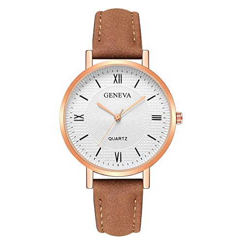 Patifia Damen Uhr, Mode Frauen Elegant Mädchen Uhren Genf Kristall Edelstahl Leder Quarz Analog Armbanduhren einfache Daily Uhr Zifferblatt Geschäft Uhr runde Armbanduhr -