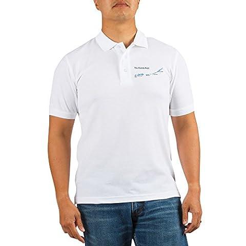 CafePress - Florida Keys - Map Design. - Golf Shirt,