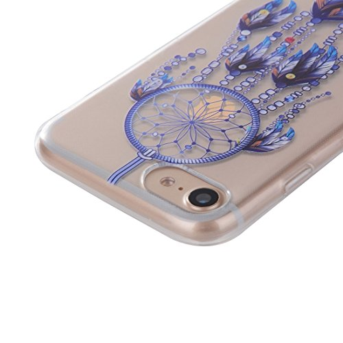 iPhone Case Cover Pour iPhone 7 Cat Peach Blossom motif Transparent TPU Soft Protective Back Cover Case ( SKU : Ip7g0061f ) Ip7g0061a