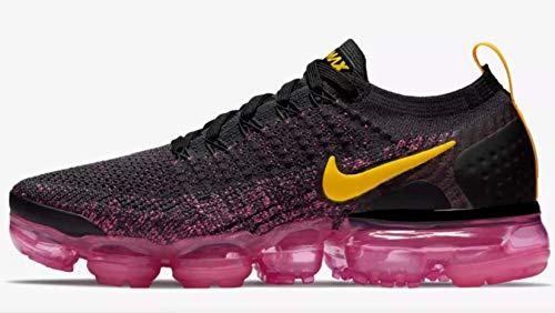 Nike Damen W Air Vapormax Flyknit 2 Laufschuhe Mehrfarbig (Gridiron/Laser Orange/Pink Blast/Black 008) 35.5 EU