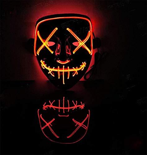 HANJIANJIN Masken - Halloween - Fluoreszenz - Tanz - leuchtende Maske Led - Maske Halloween-tanz