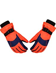 Ski Snow Gloves, Paciffico Waterproof&Windproof Winter Warm Gloves/ Outdoor Sports Hiking Motorbicycle Snowboard Cycle Travelling Gloves for Children