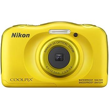 """Nikon COOLPIX W100 Cámara compacta 13.2MP 1/3.1"""" CMOS 4160 x 3120Pixeles Amarillo - Cámara digital (13,2 MP, 4160 x 3120 Pixeles, 1/3.1"""", CMOS, 3x, Amarillo)"""