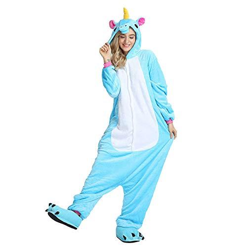 HZDHCLH Pyjama Adulte Animal Grenouillère en Flanelle Combinaison de Vêtement Unisexe Licorne...