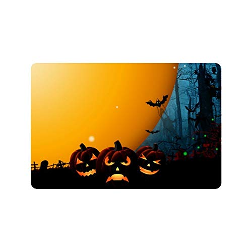 Decorative Fußabtreter Pumpkin Halloween Festival Custom Home and Bath Fußabtreter 12.5 x 18 Inch ()