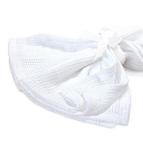Lumaland Mantita arrullo para recién nacidos. Sin contaminantes 100% Algodón75 x 90 cm blanco