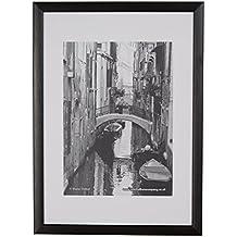 The Photo Album Company PAWFA4B-BLK - Marco de fotos (madera), color negro