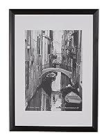 Certificate' Bilderrahmen mit klar Styrol unzerbrechlich Front. Größe A4. Holz Rahmen schwarz 20mm. Mit Gestell für freistehend und Wandmontage.