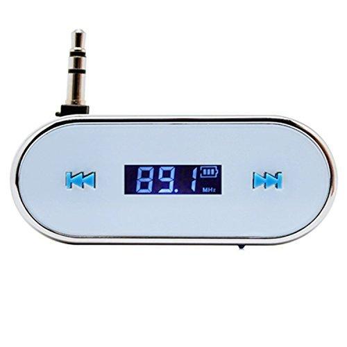 elegantstunning Transmetteur FM sans Fil de Voiture Blanche d'EastVita 3.5mm pour l'iPhone 5S 5C 4S iPod Samsung Galaxy S4 MP3