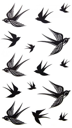 Tatouage temporaire imperméable SPESTYLE non toxique stickersnew concevoir nouvelle version tatouage temporaire imperméable Swallow tatouages temporaires