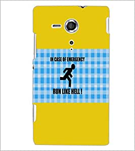 PrintDhaba Quote D-5704 Back Case Cover for SONY XPERIA SP (Multi-Coloured)