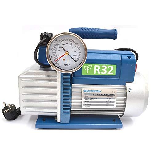 Vakuumpumpe 70 L/min 2 STUFIG 1/3HP UNTERDRUCK R32 R1234YF KLIMAANLAGE