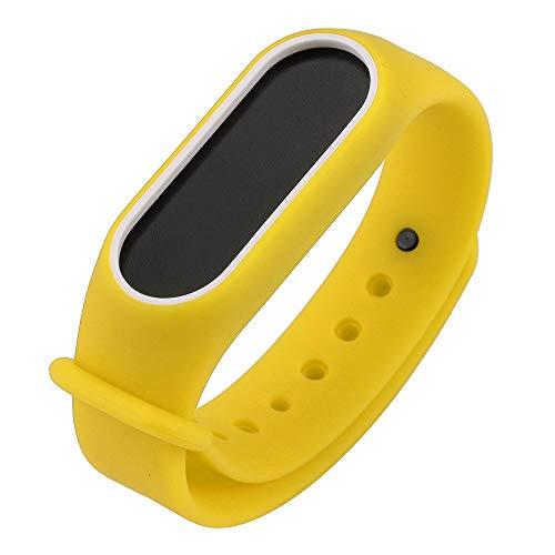 Hanomes Correas para Relojes Reemplazo de Correa de Banda de Pulsera de Gel de sílice para Xiaomi Mi Band 2 Pulsera