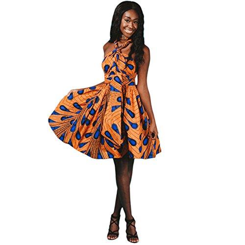 isches Kleid Ethnischer Stil Multi-tragen Jahrgang Abendkleid Multiway Kurzes Kleider Elegantes Sommer Verbandkleid Strandkleid Cocktailkleid Partykleid Mehrfarbig 38 (Flapper-kleid Im Store)