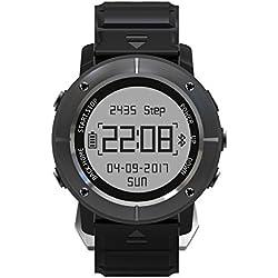 [Oferta] Smartwatch GPS Deportivo Impermeable, HAMSWAN Reloj Deportivo Inteligente Regalo con GPS Bluetooth 4.2 11 Antiagua hasta bajo 50M Antigolpe y Antipolvo, Aplicación para Smartphone, Control de Pulso Cardiaco, Controlador de Ejercicios para Exploradores y Entusiastas