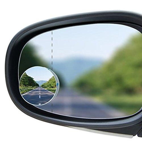 almondcy-blind Spot Spiegel Auto Blind Spot Seite Spiegel konvex 252mm 5,1cm Rückfahrkamera 360Weitwinkel verstellbar rund Stick Randlos + 30° Sway Adjustabe HD Glas konvex Weitwinkel Rear View für alle Car SUV Trucks Motorrad