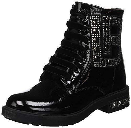 S Mädchen Anfibio Combat Boots, Schwarz (Black 4683), 33 EU ()