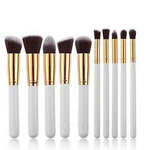 Lumanuby 10PCS Outils de Maquillage Brosse cosmétiques Professionnel Teint Eyebrow Shadow Makeup Blush Kit Pinceau Ensemble brosse à maquillage Brosse à maquillage Cosmétique Ensembles Pinceau Fond de Teint 16.5x10x2cm