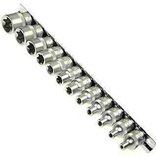 12 x Steckschlüssel Satz Nuss TORX E-Profil E4 - E20 Einsätze auf Steckleiste (A-2412)