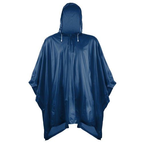 Splashmacs Unisex Regenponcho / Regencape für Erwachsene Einheitsgröße,Marineblau