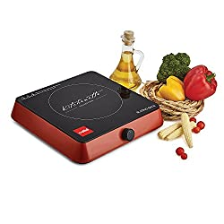 Cello Blazing Blaze-600B 1600-Watt Induction Cooktop (Black and Red)