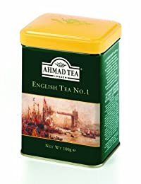 Ahmad Tea English Tea No. 1, 3.5-Ounce Tins (Pack of 6)