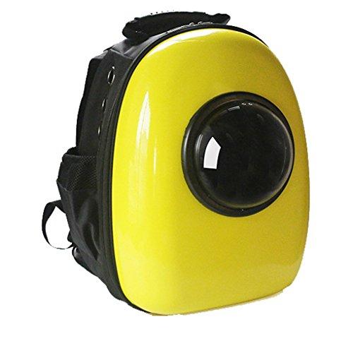 YANXI Hunde-Tasche, Hunde-Rucksack, tragbar, Raumkapsel, Outdoor, Reise, Wandern, mit Guckfenster, für kleine Hunde und Katzen(Yellow)