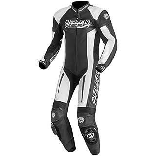 Arlen Ness Monza 1-Teiler Motorrad Lederkombi 50 Schwarz/Weiß