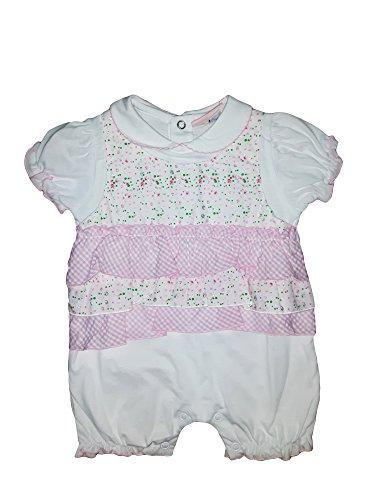 rivenditore di vendita negozio online Garanzia di soddisfazione al 100% tutina pagliaccetto neonata mezza manica puro cotone BIDIBIMBO art. P172  (0/3 mesi, rosa)