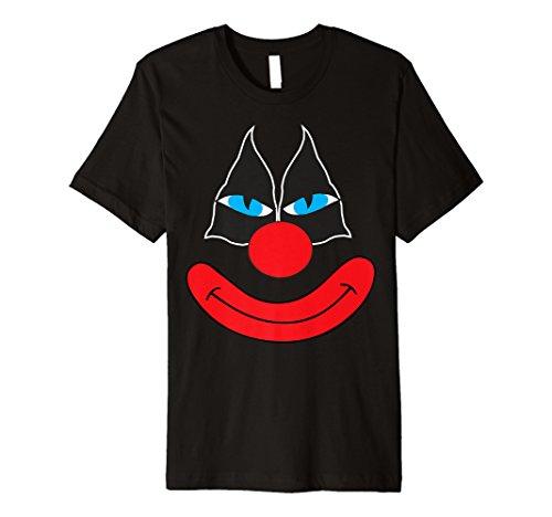 Clown Emoji-Gesicht Halloween-Kostüm Tee (Halloween Clown Gesichter)