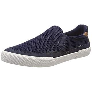 bugatti Herren 321721605400 Slip On Sneaker, Blau (Dark Blue 4100), 45 EU