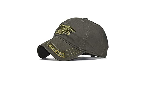YUANBAOG United States US USNS USMC Marine Army Special Forces Insignia NAVY Seal hat Eagle Trident Camo Camouflage Hat Cap dad Hat adjustable