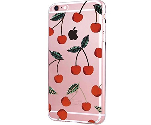 Cover iPhone 6/6S Plus Trasparente Creativo morbido Silicone Luce e sottile TPU arte pittura Serie phone case DECHYI Design# 30