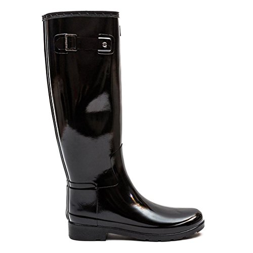 Hunter Original Refined Gloss Femme Boots Noir Noir