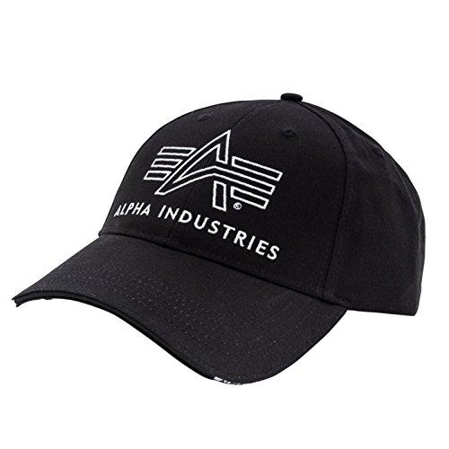 Alpha Industries Big A Classic Cap bestickt 100% Baumwolle angenehmer Tragekomfort robustes Base Cap stufenlose Größenregulierung