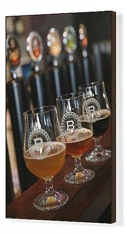 Canvas Print of Beer glasses at the Broggeriet brewery in Sonderborg, Jutland, Denmark