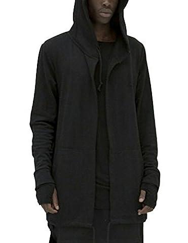 Boom Fashion Homme Sweat à capuche Manches Longues Manteaux Vestes