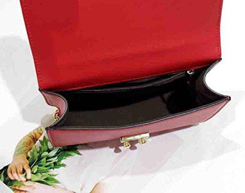 Sacchetto Di Spalla Della Cinghia Di Spalla Della Borsa Del Messaggero Delle Signore Del Sacchetto Di Rivetto Del Cuoio Red