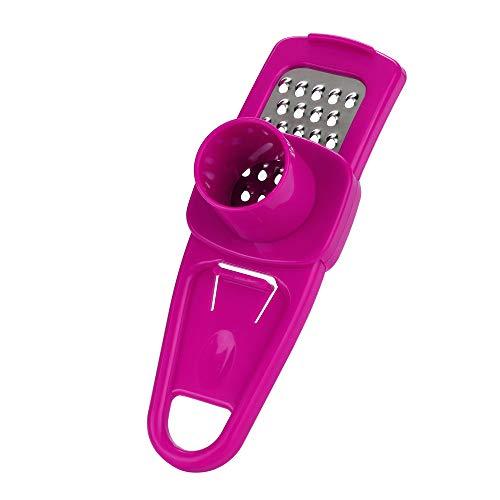 Hukz Multifunktionale Küche liefert,Multifunktions-Edelstahl, der Knoblauch-Schneider-Schneider-Schredder-Küche auch drückt (Pink) -