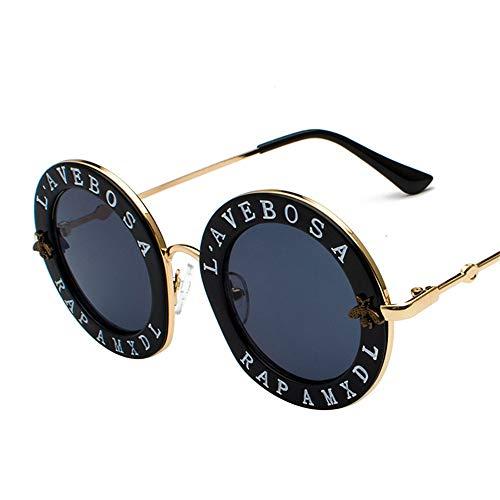 Yiph-Sunglass Sonnenbrillen Mode Persönlichkeit Brief Brille Beat Sonnenbrille Street Injection Sonnenbrille (Farbe : 511)