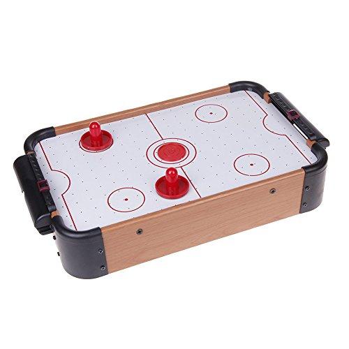Prom-near Airhockey Tischspiel Eishockey Tischspiel Tischairhockey mit Gebläse Holz-Optik