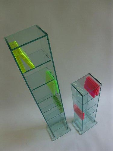 Glas CD & DVD Glas Regal NO. 5/7 Archivierung Ständer Klar/Mattglas