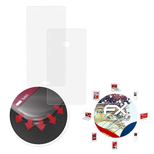 atFolix Schutzfolie passend für Xiaomi Mi Note 2 Folie, entspiegelnde & Flexible FX Bildschirmschutzfolie (3er Set)