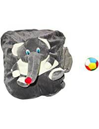 Jrp Mart Grey Elephant Soft Toy Bag With Little Ball - B072MFQMBB
