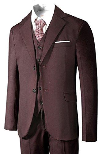 Hanayome Herren Anzug 3-Teilig Business Fit Anzugjacke Anzughose Weste (Man-anzüge Big)