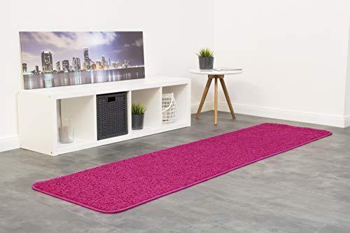 misento 292116 Shaggy Läufer Langflor Teppich, Polypropylen, rosa, 0.67 x 0.16 x 0.16 cm