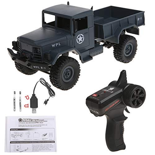 YiFeiCX WPL B14 RC Car 1/16 Rock Crawler fuoristrada 4WD 2.4G camion militare giocattolo divertente Blue
